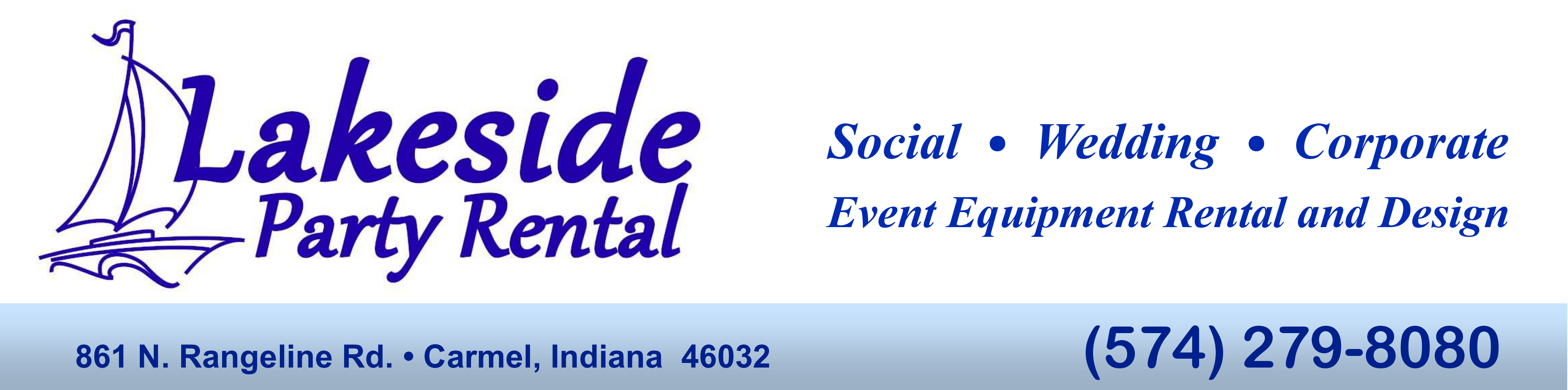 Party Rental Equipment from Lakeside party rental serving North Central Indiana.