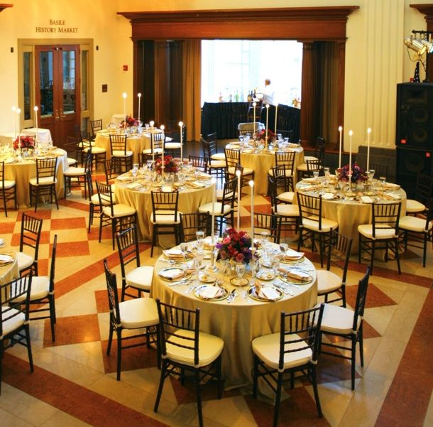 For corporate events  we have tables, chairs, linens